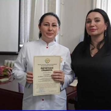 Сотрудников РДЦ, которые награждены почетными грамотами за большой личный вклад в борьбе с распространением новой коронавирусной инфекции